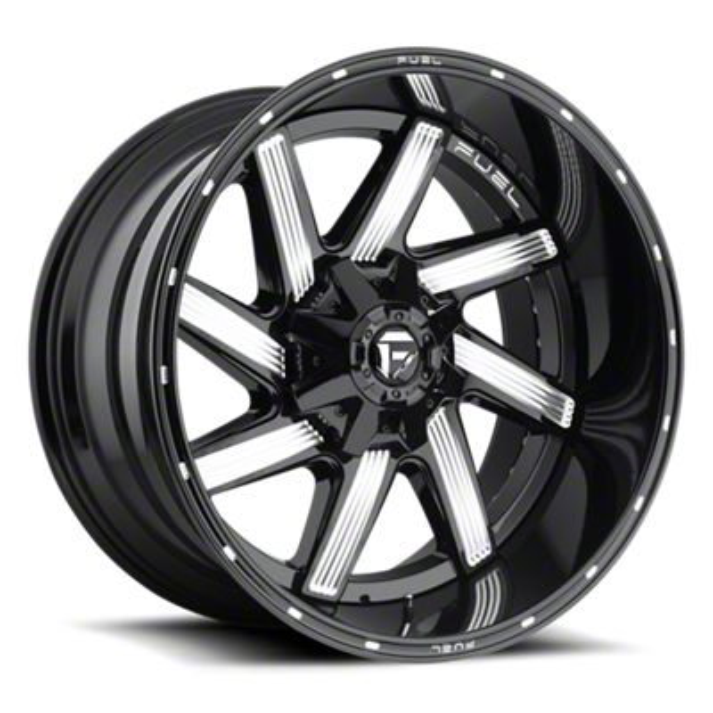 Fuel Wheels Moab Gloss Black Milled Wheel - 22x12 (87-06 Jeep Wrangler YJ & TJ)
