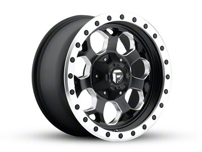 Fuel Wheels Savage Black Milled Wheel - 17x8.5 (87-06 Jeep Wrangler YJ & TJ)