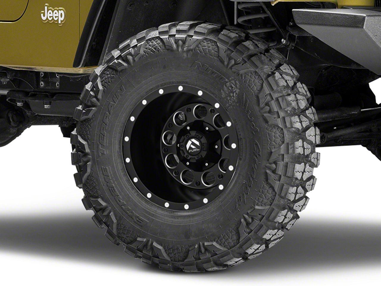 Fuel Wheels Revolver Black Milled Wheel - 15x10 (87-06 Jeep Wrangler YJ & TJ)