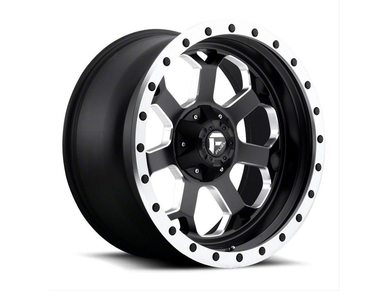 Fuel Wheels Savage Black Milled Wheel - 20x10 (87-06 Jeep Wrangler YJ & TJ)