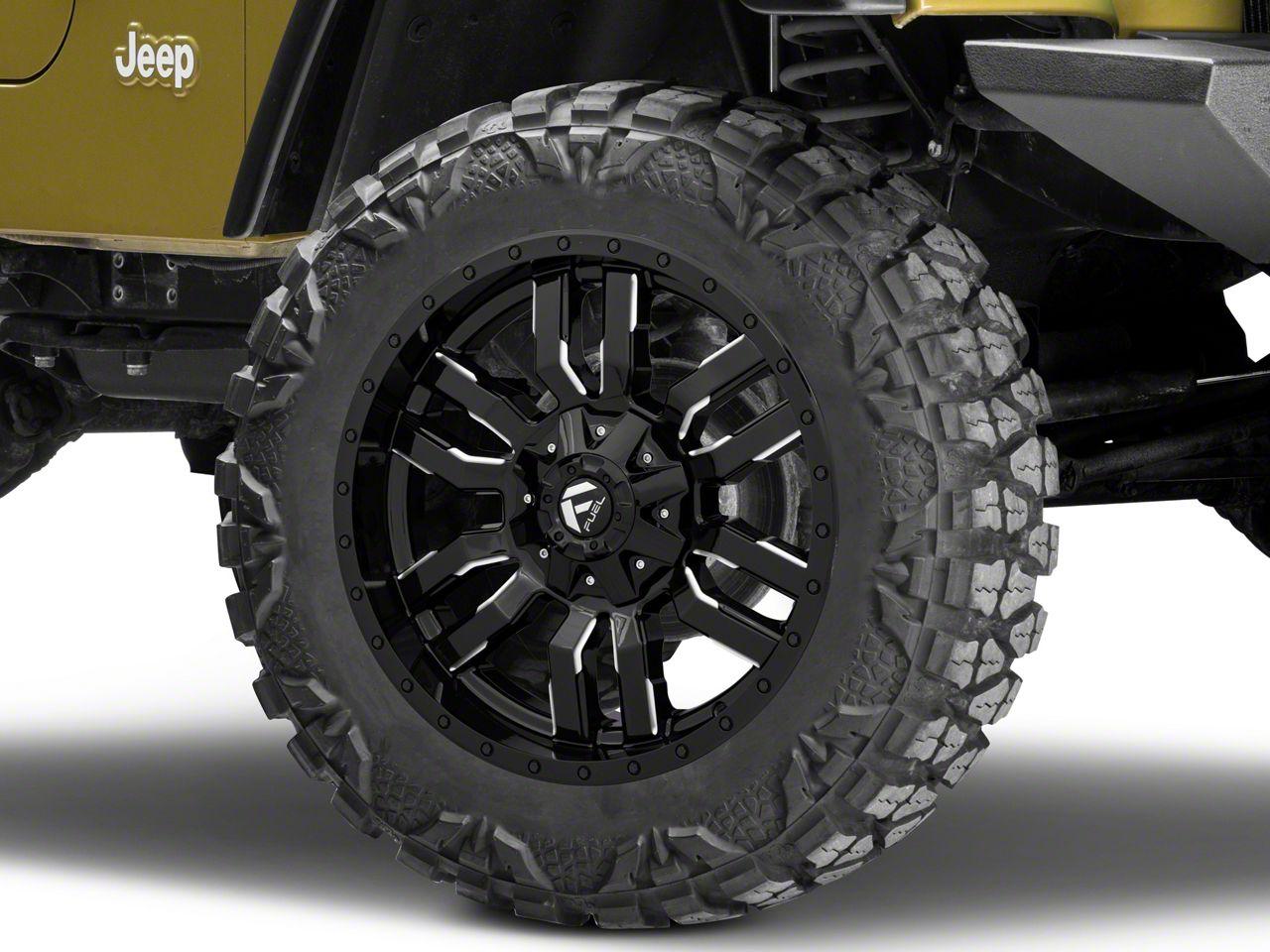 Fuel Wheels Sledge Gloss Black Milled Wheel - 20x9 (87-06 Jeep Wrangler YJ & TJ)