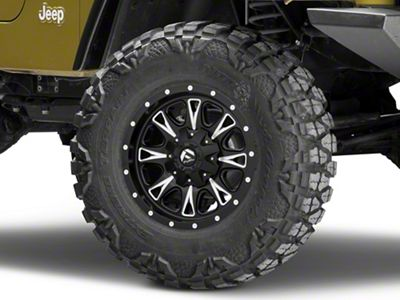 Fuel Wheels Throttle Black Milled Wheel - 17x9 (87-06 Jeep Wrangler YJ & TJ)