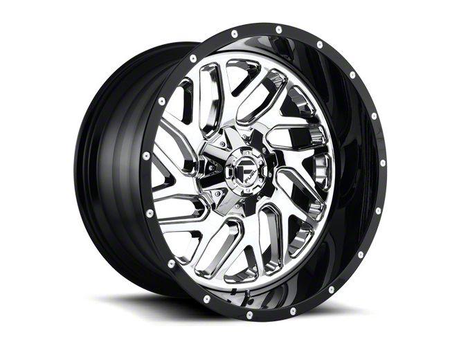 Fuel Wheels Triton Chrome Wheel - 22x10 (87-06 Jeep Wrangler YJ & TJ)