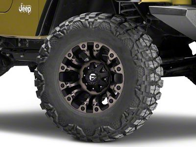 Fuel Wheels Vapor Matte Black Machined Wheel - 17x9 (87-06 Jeep Wrangler YJ & TJ)