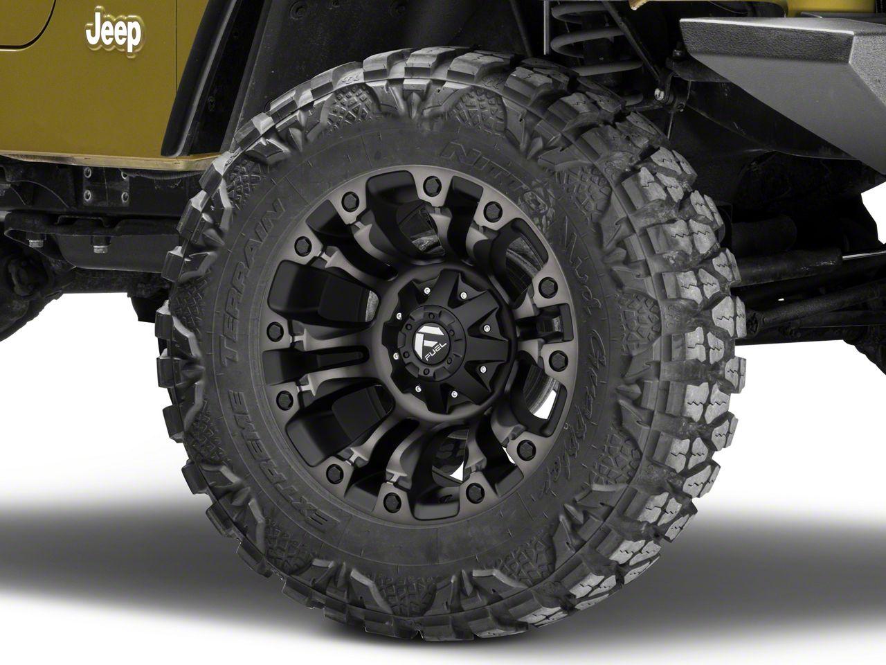 Fuel Wheels Vapor Matte Black Machined Wheel - 18x9 (87-06 Jeep Wrangler YJ & TJ)