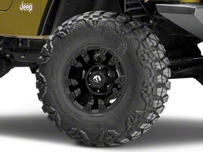 Fuel Wheels Vapor Matte Black Wheel - 15x8 (87-06 Jeep Wrangler YJ & TJ)