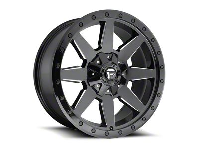 Fuel Wheels Wildcat Gloss Black Milled Wheel - 17x9 (87-06 Jeep Wrangler YJ & TJ)