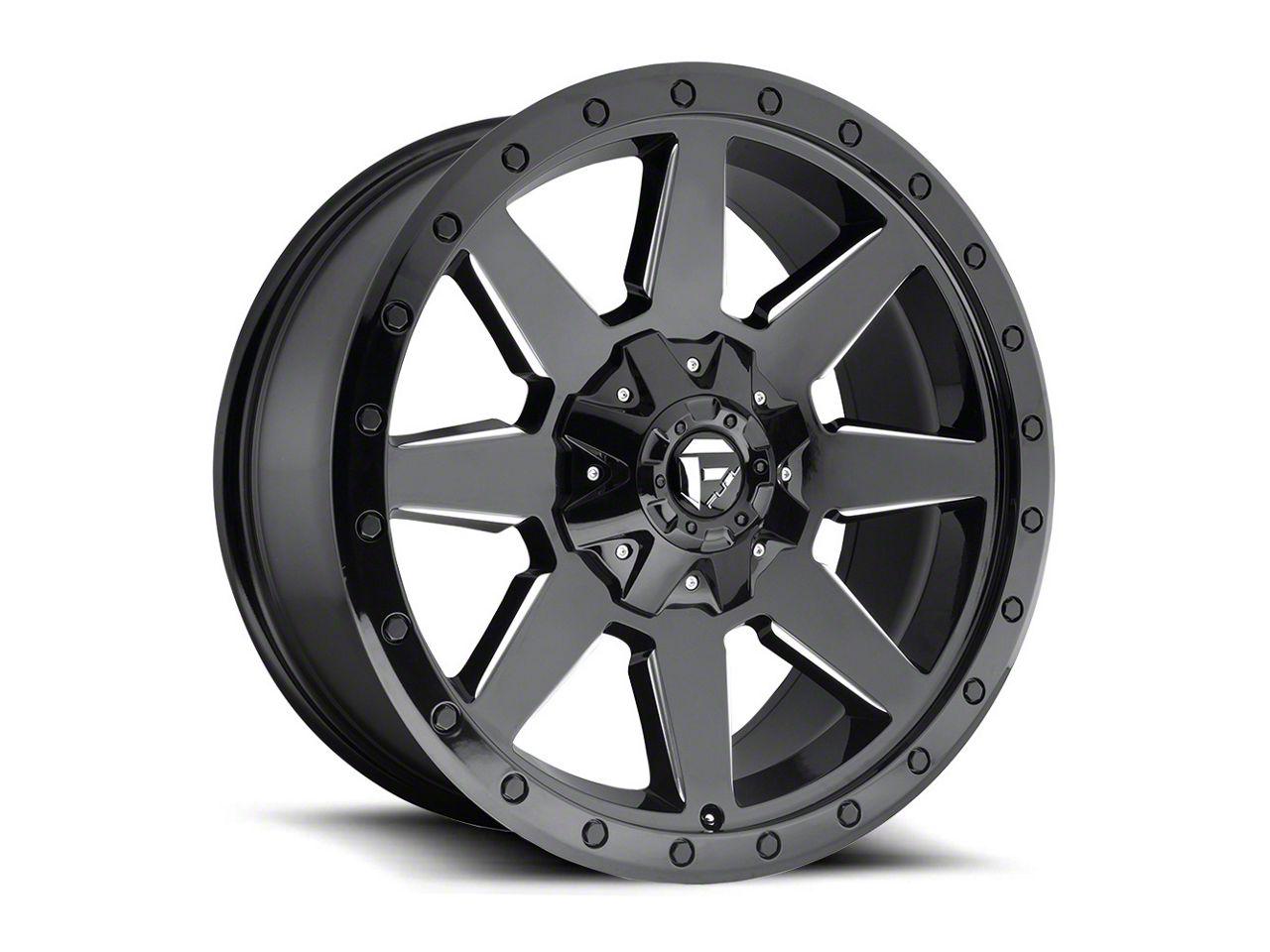 Fuel Wheels Wildcat Gloss Black Milled Wheel - 17x9 (87-06 Jeep Wrangler YJ & TJ)