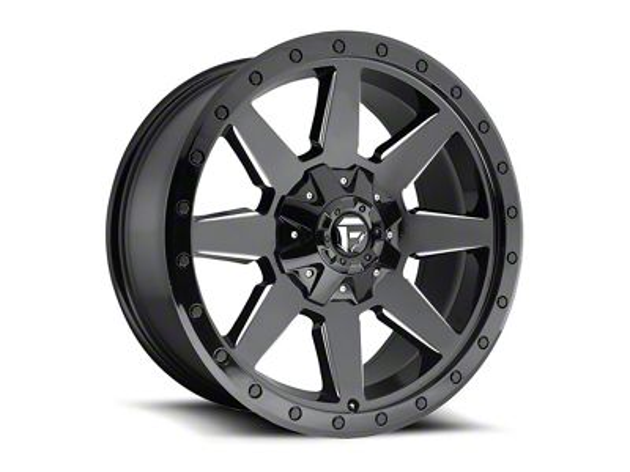 Fuel Wheels Wildcat Gloss Black Milled Wheel - 20x9 (87-06 Jeep Wrangler YJ & TJ)