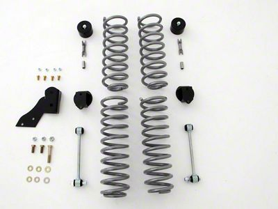 Rubicon Express 2.5 in. Budget Boot Standard Coil Spring Lift Kit w/o Shocks (07-18 Jeep Wrangler JK 4 Door)