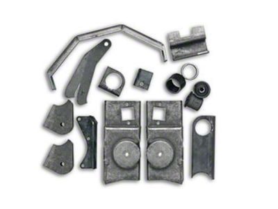 Rubicon Express Front Axle Bracket Kit (07-18 Jeep Wrangler JK)