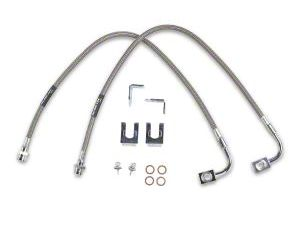 Rubicon Express Rear Stainless Steel Brake Lines for 2.5-4.5 in. Lift (07-18 Jeep Wrangler JK)