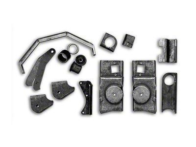 Rubicon Express Front Axle Bracket Kit (97-06 Jeep Wrangler TJ)