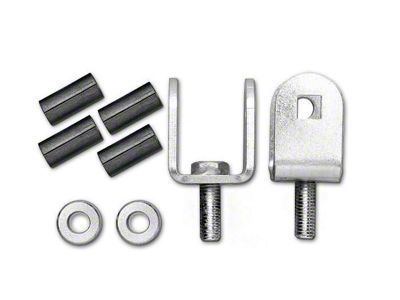 Rubicon Express Front Sway Bar Disconnect Adapters (97-06 Jeep Wrangler TJ)