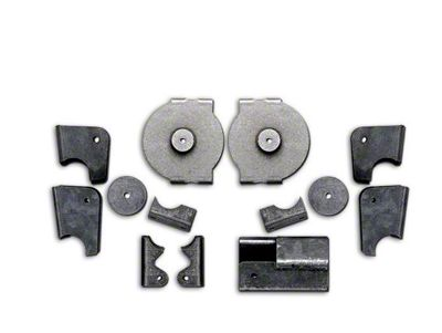 Rubicon Express Rear Axle Bracket Kit (97-06 Jeep Wrangler TJ)