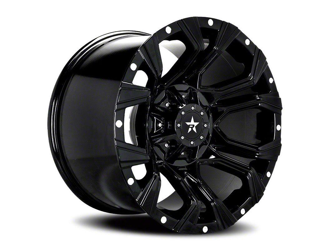 RBP 64R Widow Gloss Black w/ Machined Grooves Wheel - 20x12 (87-06 Jeep Wrangler YJ & TJ)