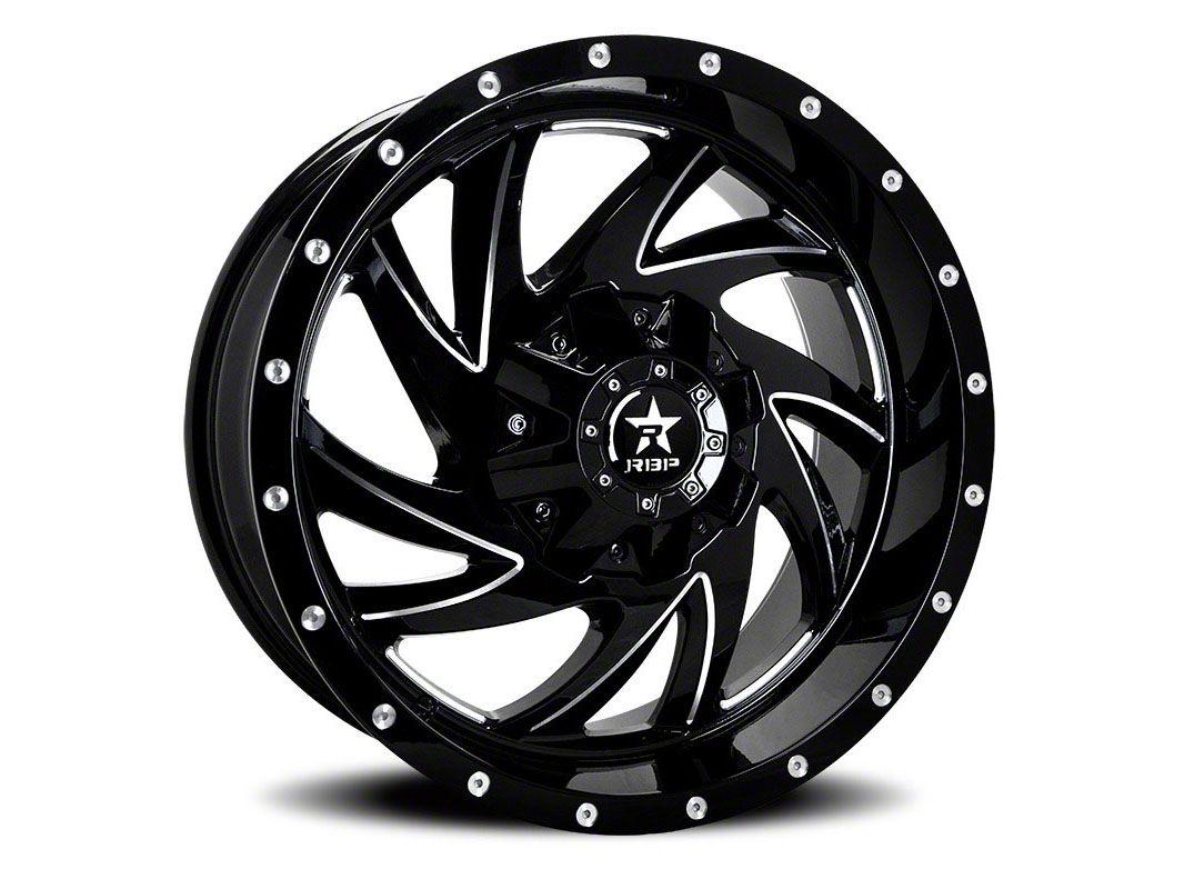 RBP 66R HK-5 Gloss Black w/ Machined Grooves Wheel - 20x12 (87-06 Jeep Wrangler YJ & TJ)