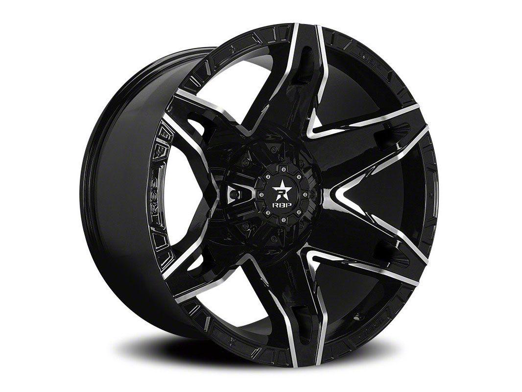 RBP 70R Quantum Gloss Black w/ Machined Grooves Wheel - 20x12 (87-06 Jeep Wrangler YJ & TJ)