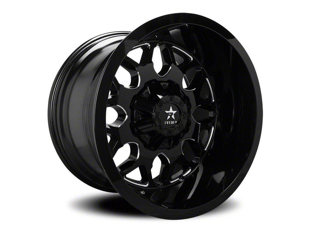 RBP 73R Atomic Gloss Black w/ Machined Grooves Wheel - 20x12 (87-06 Jeep Wrangler YJ & TJ)