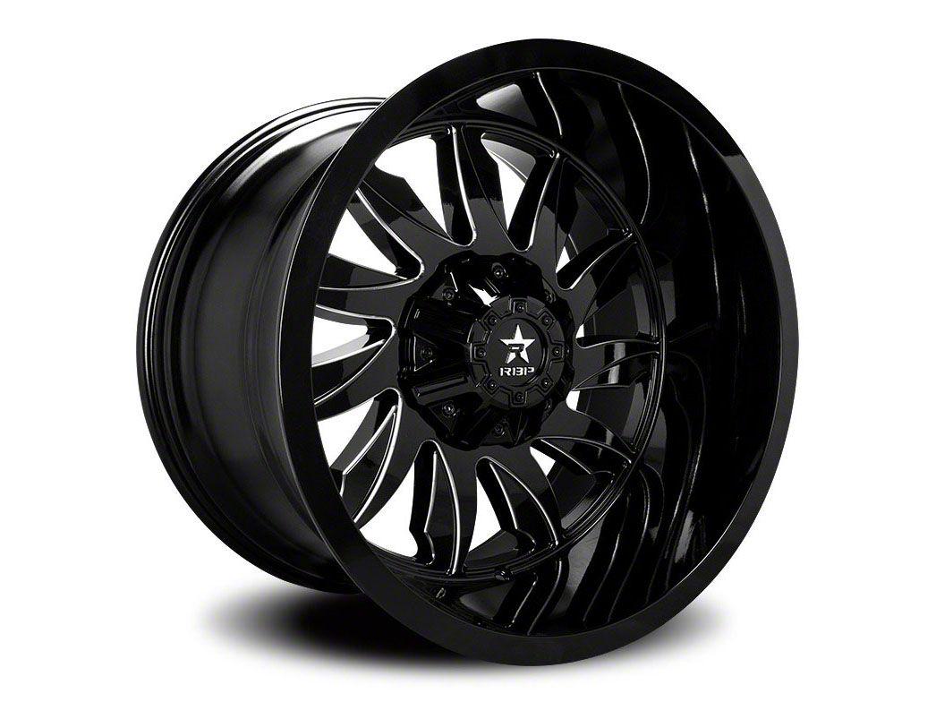 RBP 74R Silencer Gloss Black Wheel - 20x12 (87-06 Jeep Wrangler YJ & TJ)