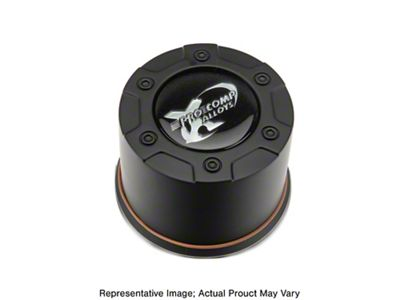 Pro Comp Series 1 Push Thru Black Center Cap (87-19 Jeep Wrangler YJ, TJ, JK & JL)