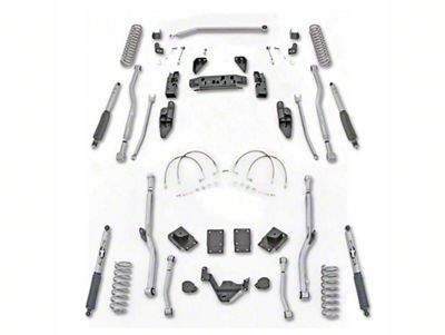 Rubicon Express 3.5 in. Extreme-Duty 4-Link Long Arm Lift Kit (07-18 Jeep Wrangler JK 2 Door)