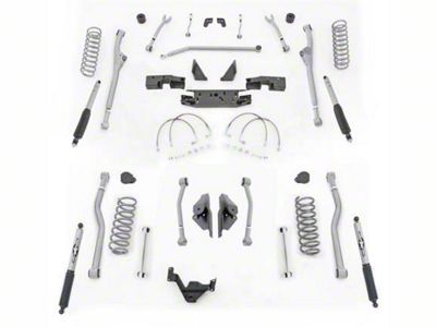 Rubicon Express 3.5 in. Extreme-Duty Front/Rear Radius Long Arm Lift Kit (07-18 Jeep Wrangler JK 2 Door)
