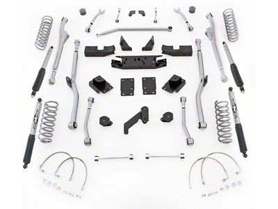 Rubicon Express 3.5 in. Extreme-Duty Radius Long Arm Lift Kit (07-18 Jeep Wrangler JK 2 Door)