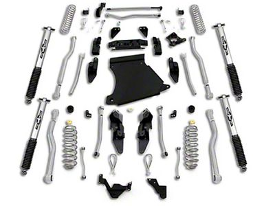 Rubicon Express 4.5 in. Extreme-Duty 4-Link Long Arm Lift Kit (07-18 Jeep Wrangler JK 2 Door)