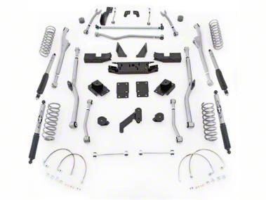 Rubicon Express 4.5 in. Extreme-Duty Radius Long Arm Lift Kit (07-18 Jeep Wrangler JK 2 Door)