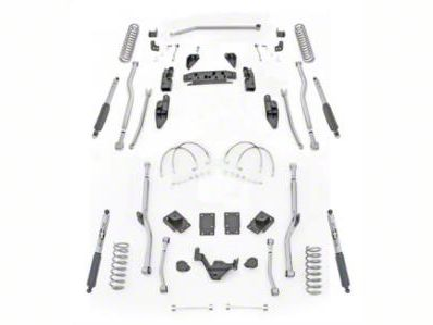Rubicon Express 3.5 in. Extreme-Duty 4-Link Front/Rear Radius Long Arm Lift Kit (07-18 Jeep Wrangler JK 4 Door)