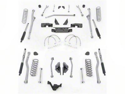 Rubicon Express 3.5 in. Extreme-Duty Radius Front/Rear 4-Link Long Arm Lift Kit (07-18 Jeep Wrangler JK 4 Door)