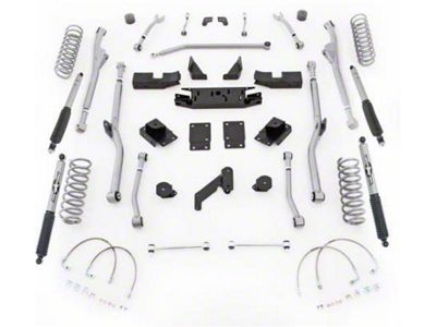 Rubicon Express 3.5 in. Extreme-Duty Radius Long Arm Lift Kit (07-18 Jeep Wrangler JK 4 Door)
