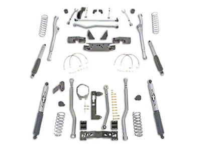 Rubicon Express 4.5 in. Extreme-Duty 4-Link Front/Rear Radius Long Arm Lift Kit (07-18 Jeep Wrangler JK 4 Door)