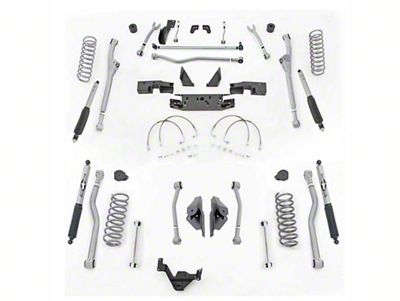 Rubicon Express 4.5 in. Extreme-Duty Radius Front/Rear 4-Link Long Arm Lift Kit (07-18 Jeep Wrangler JK 4 Door)