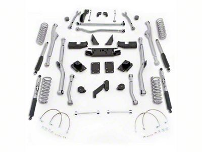 Rubicon Express 4.5 in. Extreme-Duty Radius Long Arm Lift Kit (07-18 Jeep Wrangler JK 4 Door)