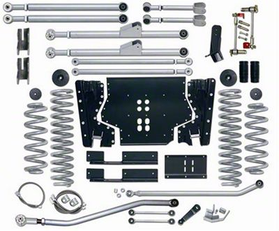 Rubicon Express 5.5 in. Extreme-Duty Long Arm Lift Kit w/ Rear Track Bar (03-06 Jeep Wrangler TJ, Excluding Unlimited)