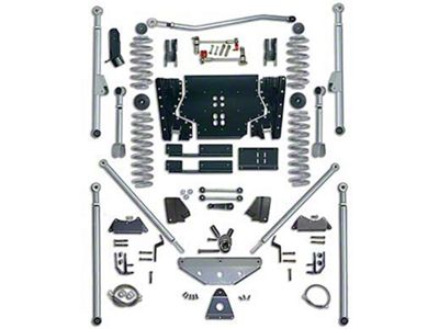 Rubicon Express 4.5 in. Extreme-Duty Long Arm Lift Kit w/ Rear Tri-Link (04-06 Jeep Wrangler TJ Unlimited)