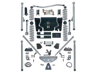 Rubicon Express 5.5 in. Extreme-Duty Long Arm Lift Kit w/ Rear Tri-Link (04-06 Jeep Wrangler TJ Unlimited)