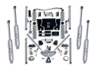 Rubicon Express 4.5 inch Extreme-Duty Long Arm Lift Kit w/ Rear Tri-Link (97-02 Jeep Wrangler TJ)