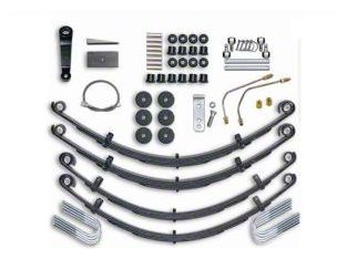 Rubicon Express 4 in. Standard Leaf Spring Lift Kit (87-95 Jeep Wrangler YJ)