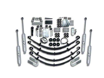 Rubicon Express 4.5 in. Extreme-Duty Leaf Spring Lift Kit (87-95 Jeep Wrangler YJ)