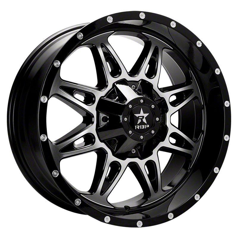 RBP 67R AK-8 Gloss Black w/ Machined Grooves Wheel - 20x9 (87-06 Jeep Wrangler YJ & TJ)