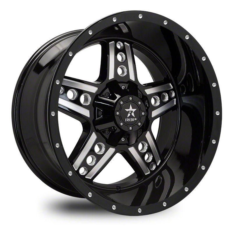 RBP 90R Colt Gloss Black w/ Machined Grooves Wheel - 20x10 (87-06 Jeep Wrangler YJ & TJ)