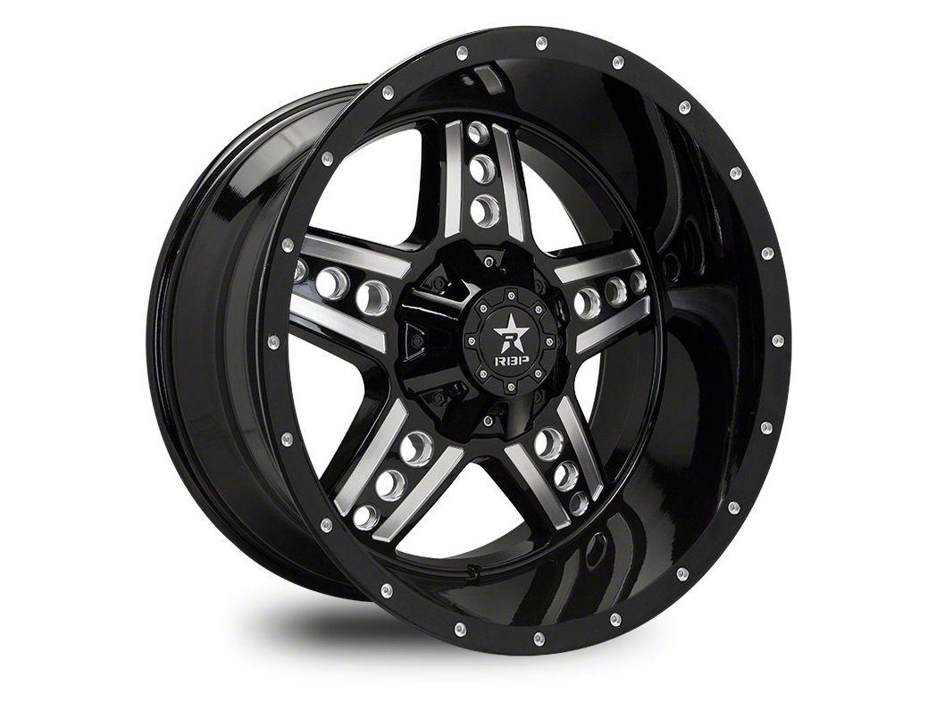 RBP 90R Colt Gloss Black w/ Machined Grooves Wheel - 22x12 (87-06 Jeep Wrangler YJ & TJ)