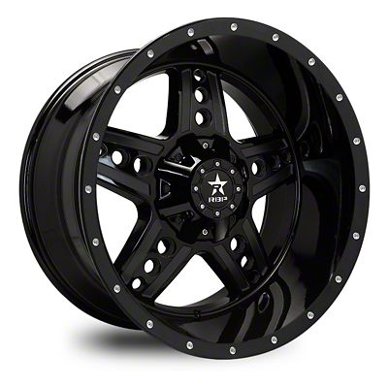 RBP 90R Colt Gloss Black Wheel - 20x10 (87-06 Jeep Wrangler YJ & TJ)