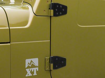 Rugged Ridge Door Hinge Set for Half Doors (87-06 Jeep Wrangler YJ & TJ)