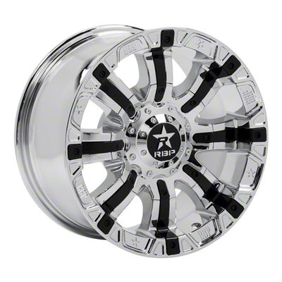 RBP 94R Chrome w/ Black Inserts Wheel - 22x10 (87-06 Jeep Wrangler YJ & TJ)