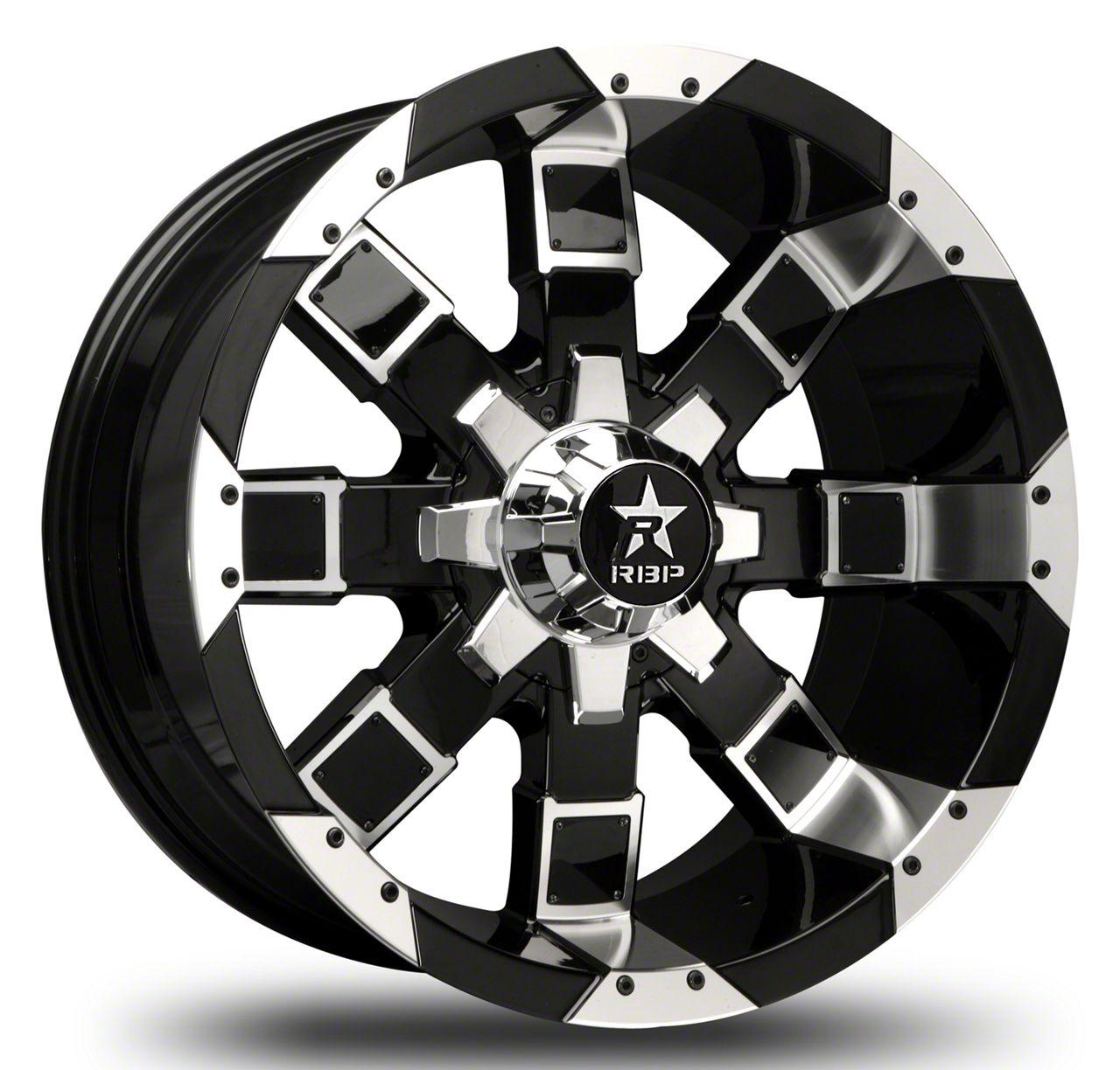 RBP 95R Black w/ Chrome Inserts Wheel - 20x10 (87-06 Jeep Wrangler YJ & TJ)