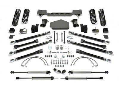Fabtech 3 inch Crawler Long Travel Lift System w/ Shocks (07-18 Jeep Wrangler JK 4 Door)